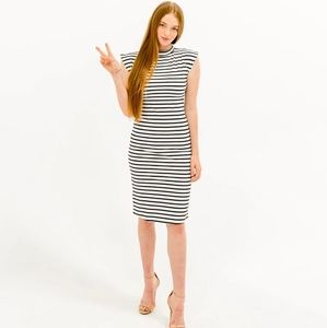 Dressember Caitlin Black and White Striped Dress